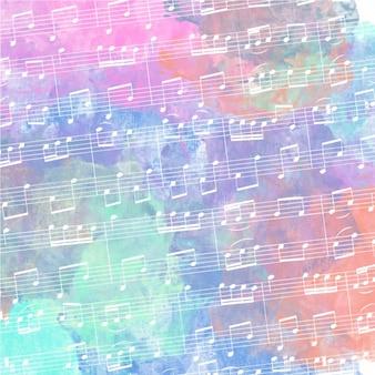 Pentagramma con sfondo acquerello