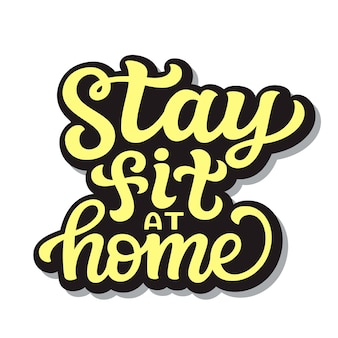 Stay fit at home illustration