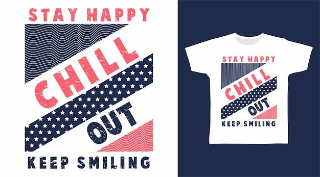 타이포그래피 티셔츠 디자인을 즐기세요.