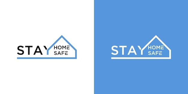 집에 머물면서 안전한 로고 세트를 유지하십시오.