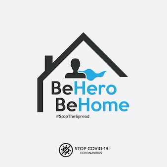 Stay home banner to stop the spread of covid-19 coronavirus.