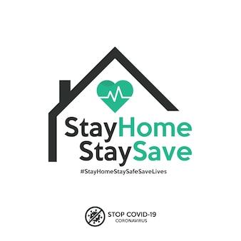 Covid-19コロナウイルスの蔓延を阻止するために、ホームバナーに留まってください。