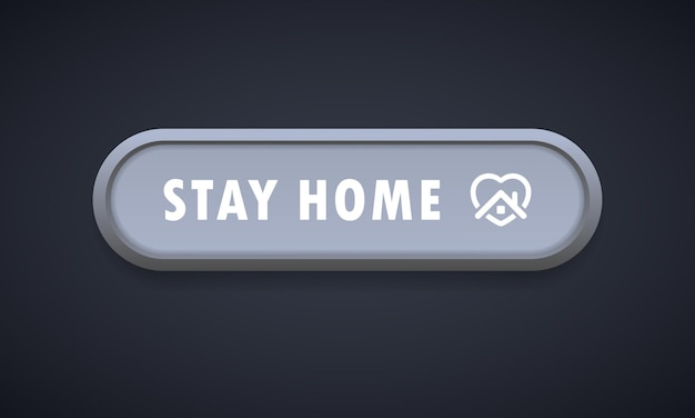 Stay home button icon. colorful web icon layout button. blogging. social media concept. coronavirus. pandemic. vector illustration. eps 10.