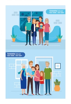 Stay at home campaign with families