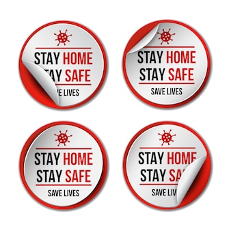 Stay at home. coronavirus covid-19, quarantine motivational phrase.