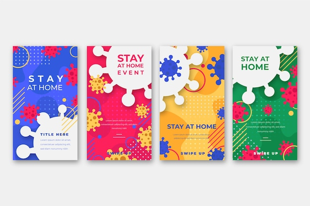 Stay at home event instagram story collection template