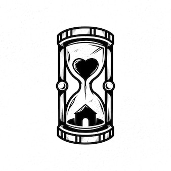 Stay at home hourglass