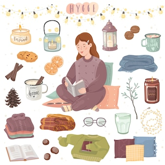 Stay at home hygge cozy set.