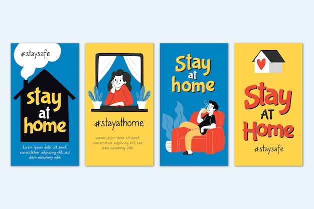 Stay at home instagram story collection