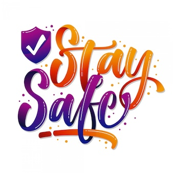 Stay at home lettering background