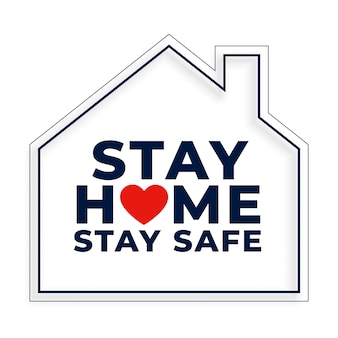 Stay home and safe background with house symbol