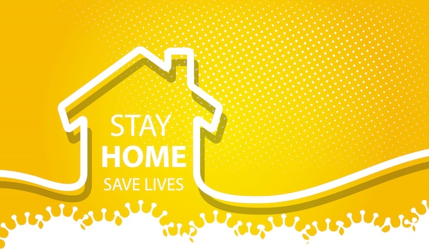 Stay home safe lives background