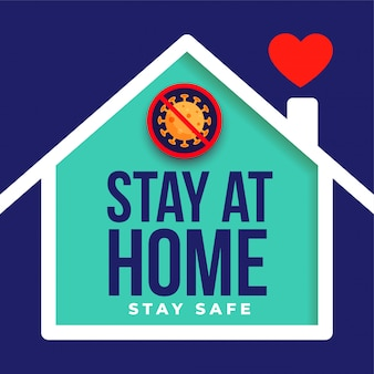 Stay at home and safe poster design