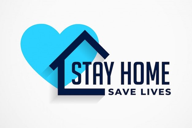 Stay home and save lives poster design Free Vector