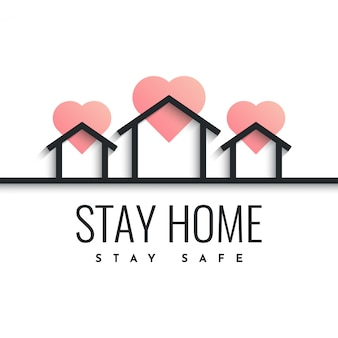 Stay home stay safe design illustration