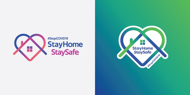 Stay home and stay safe logo.