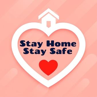 Resta a casa e stai al sicuro con un poster design Vettore gratuito