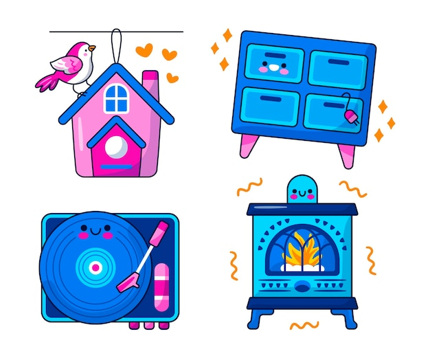 Stay home sticker collection