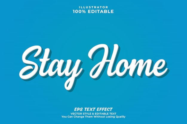 Stay home text effect