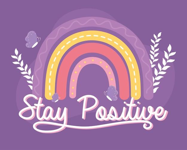 Оставайтесь позитивными мотивационными