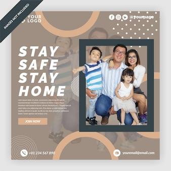 Stay safe instagram post design