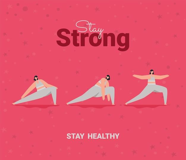 Оставайся сильным плакат