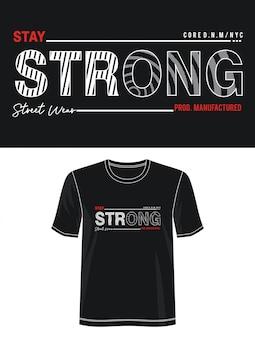 強力なタイポグラフィデザインtシャツ