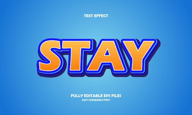 Stay text effect