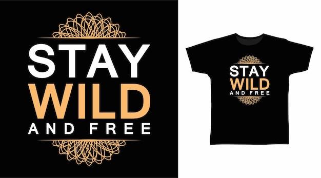 거칠고 자유로운 타이포그래피 티셔츠 디자인 유지