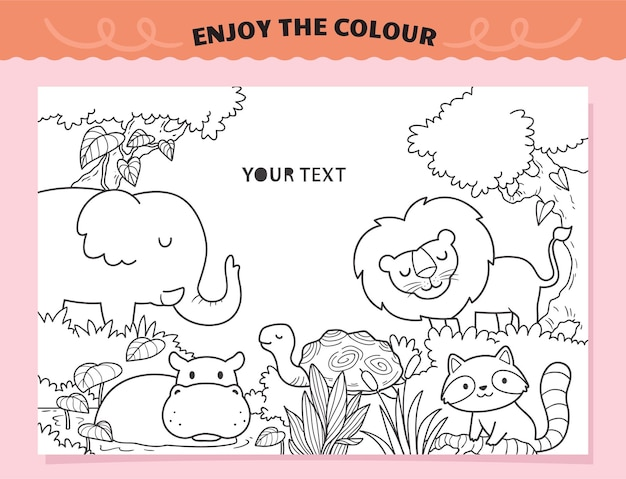 Stay wild animals coloring for kids