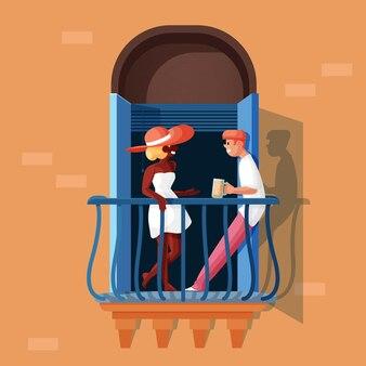 Concetto di stabilizzazione con balcone