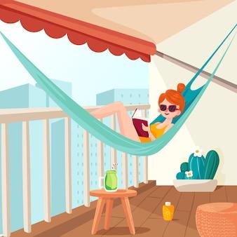 Staycation a casa balcone