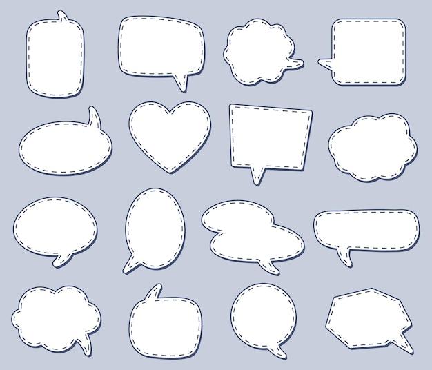 Steach речевые пузыри для разговора, диалога разной простоты, креативного рисования сплетен, значка и ярлыка. векторная иллюстрация
