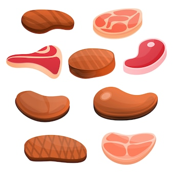 Steak icon set
