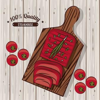 Steakhouse bbq poster