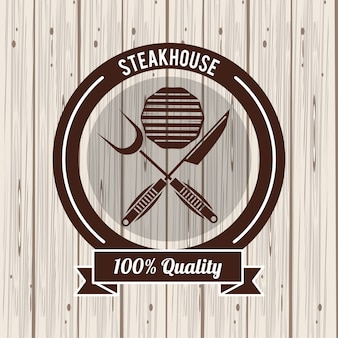 Steakhouse bbq poster