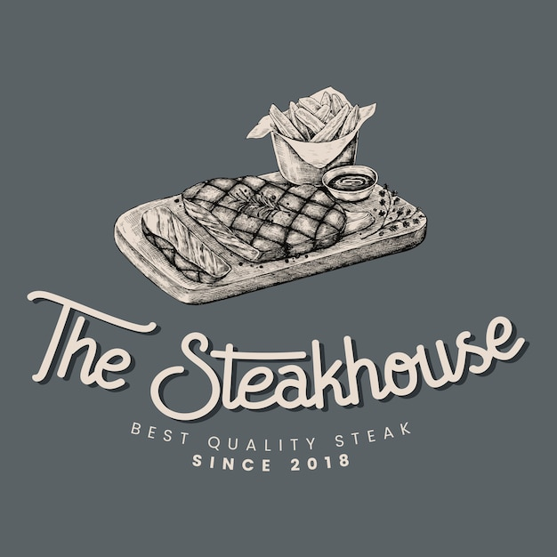 The steakhouse logo design vector
