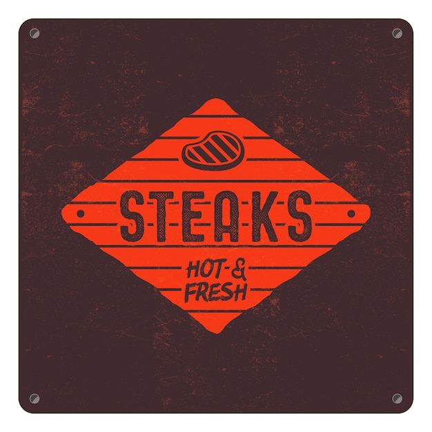 Steaks old style patch.