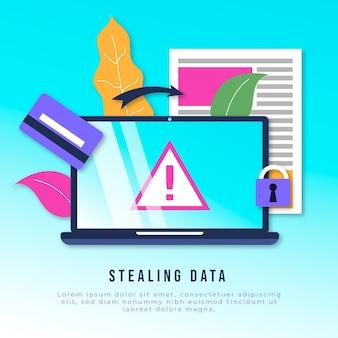 データを盗み、アカウントをハッキングする