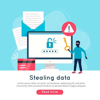 Steal data concept illustrated