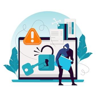 Steal data concept illustration