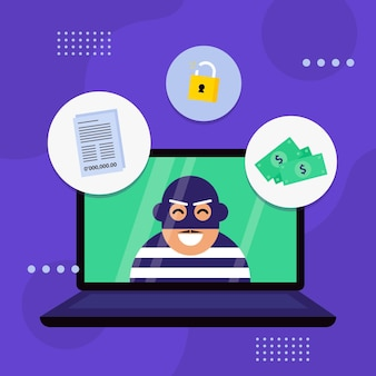 Steal data illustration concept