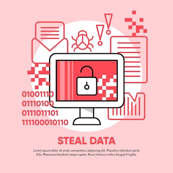 Steal data illustration design