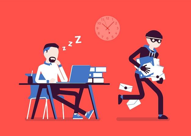 문서 훔치기 범죄 현장