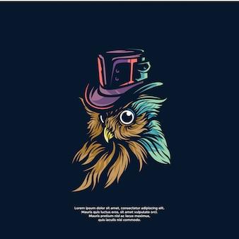Steam punk owl template