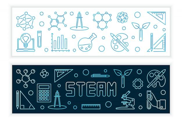 Steam концепция современных баннеров в стиле структуры