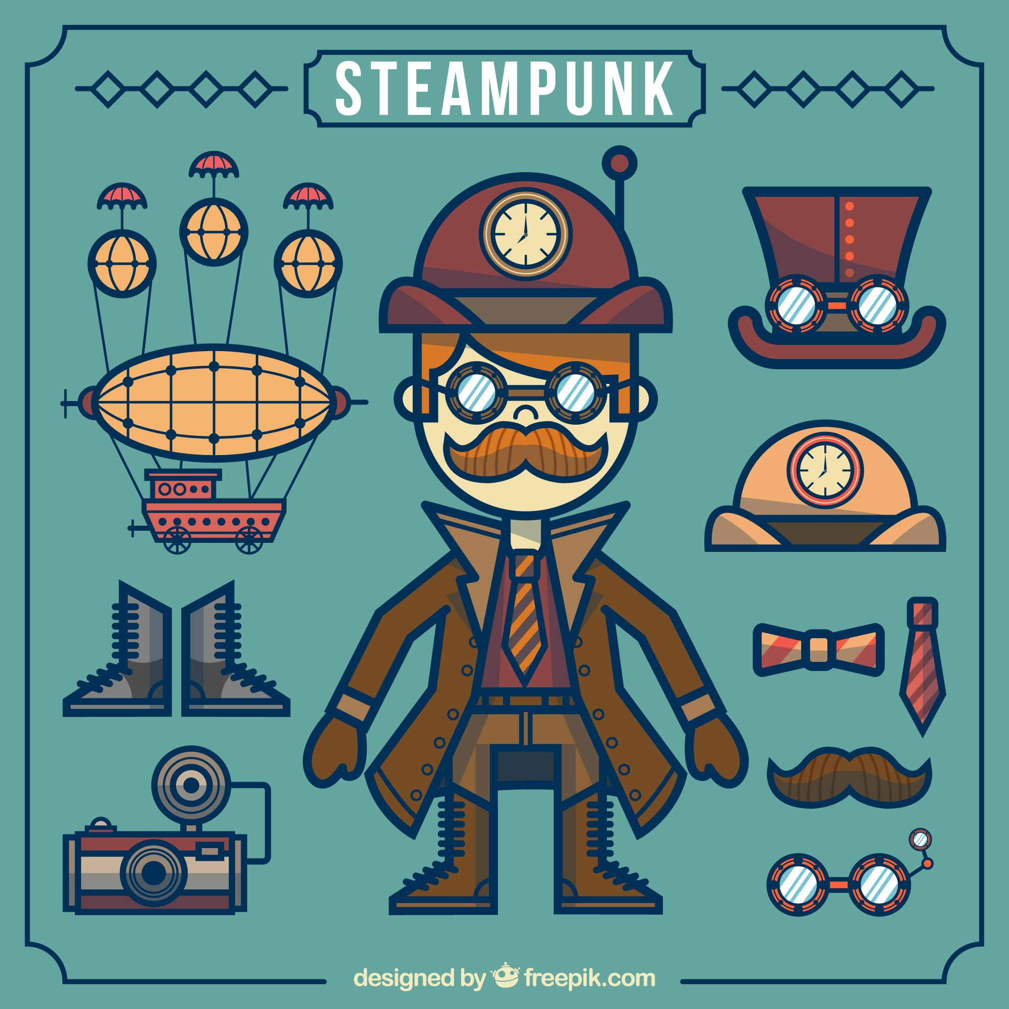 Steampunk element collection