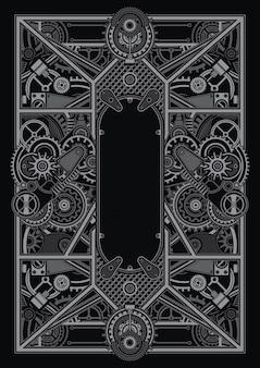 Шаблон плаката в стиле стимпанк применим для дизайна рубашки