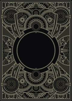 Steampunk poster template vector eps