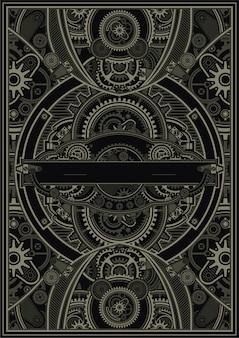 Steampunk 포스터 템플릿 벡터 eps